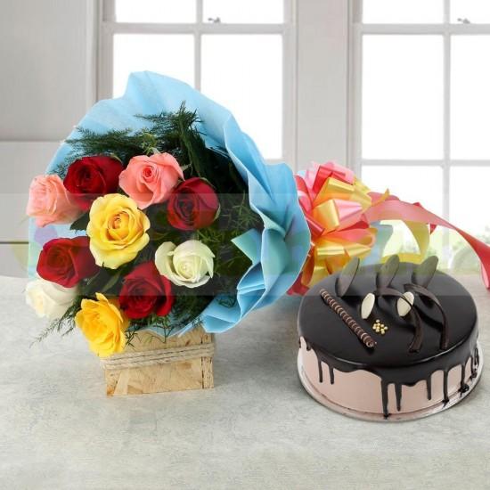 Rose Repose Combo From VIBH Cake Studio