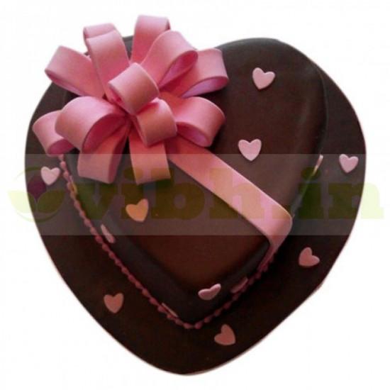 Love Flower Fondant Cake From VIBH Cake Studio