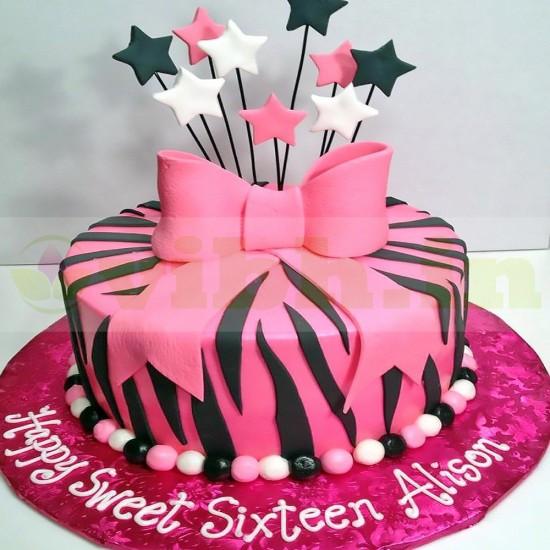 16th Birthday Fondant Cake From VIBH Cake Studio