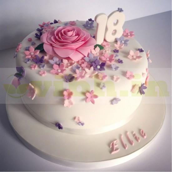 18th Birthday Designer Fondant Cake From VIBH Cake Studio