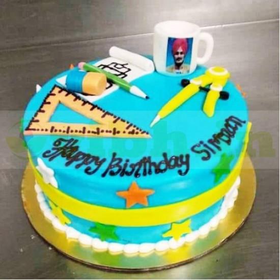Engineer Themed Fondant Cake From VIBH Cake Studio