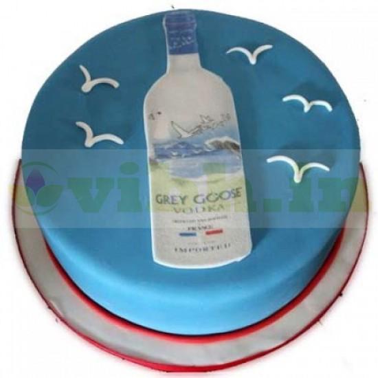 Grey Goose Vodka Themed Cake From VIBH Cake Studio