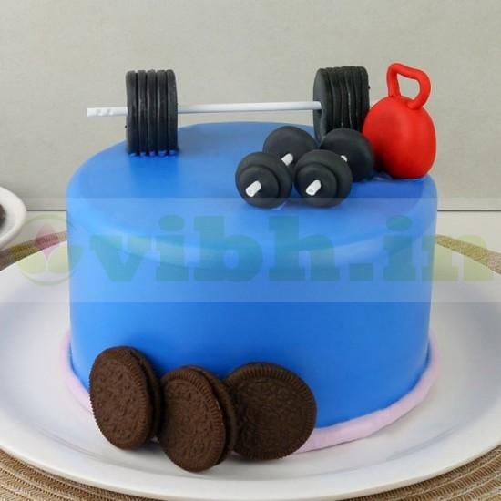 Gymalcholic Delight Fondant Cake From VIBH Cake Studio