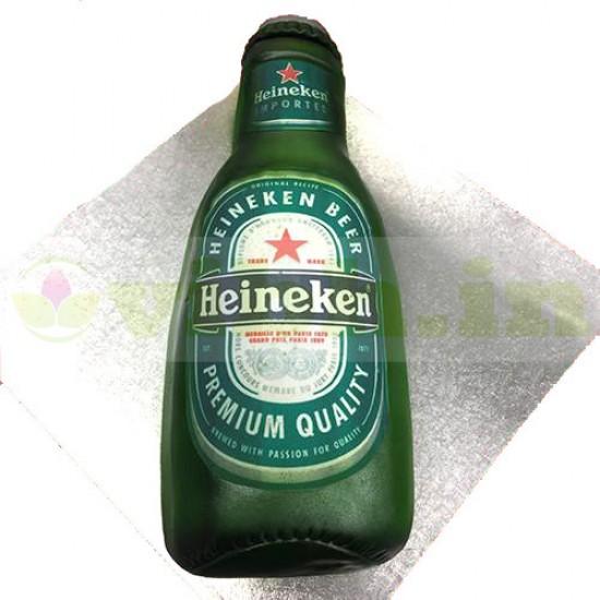 Heineken Beer Bottle Shape Fondant Cake From VIBH Cake Studio