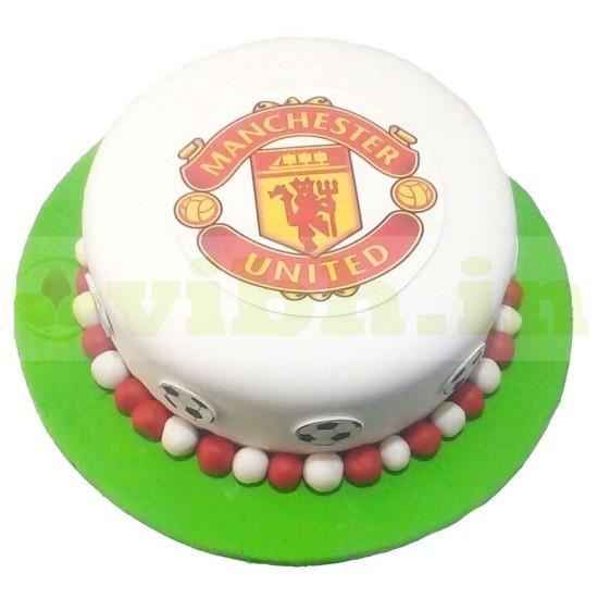 Manchester United Fondant Cake From VIBH Cake Studio