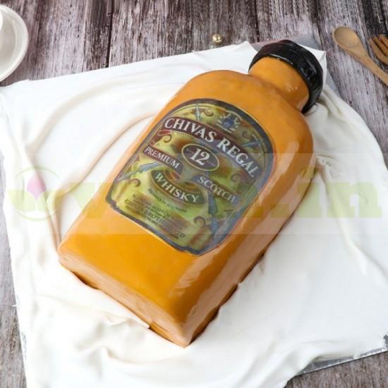 Delicious Chivas Regal Whiskey Liquor Theme Cake From VIBH Cake Studio
