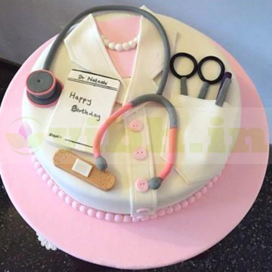 Terrific Online Female Doctor Birthday Cake Delivery Vibh Cake Studio Funny Birthday Cards Online Chimdamsfinfo