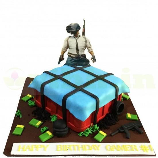 PUBG Gamer #1 Birthday Cake From VIBH Cake Studio