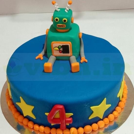 Stupendous Buy Robot Theme Fondant Cake Online Vibh Cake Studio Personalised Birthday Cards Epsylily Jamesorg