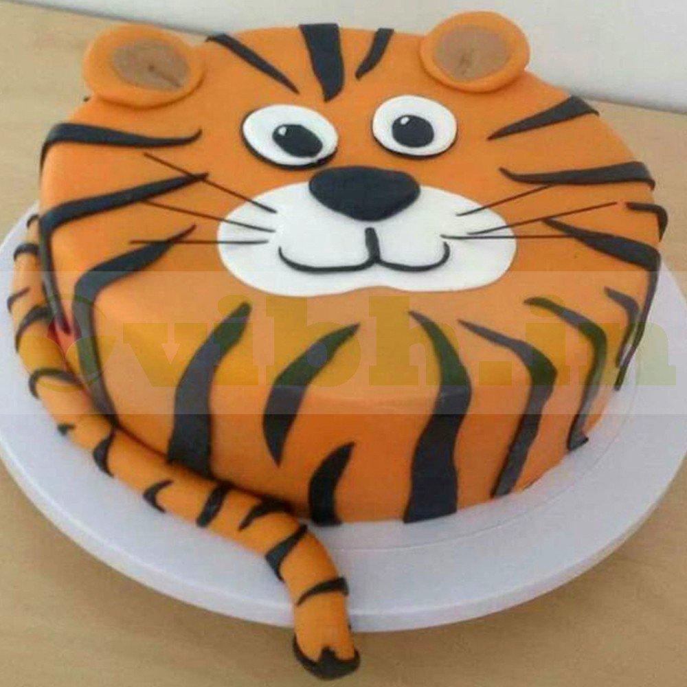 Miraculous Order Tiger Fondant Cake Online Vibh Cake Studio Funny Birthday Cards Online Alyptdamsfinfo