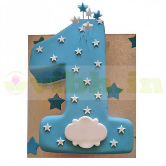 Starry Gaze 1st Birthday Fondant Cake From VIBH Cake Studio