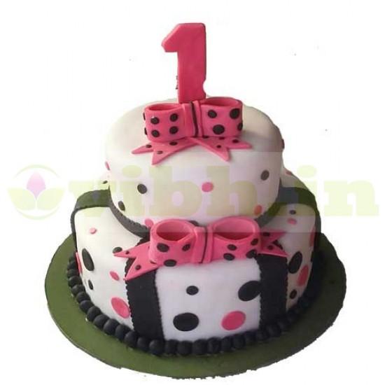 First Birthday Fondant Cake From VIBH Cake Studio