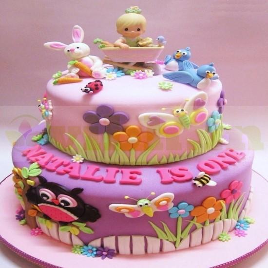 Kids Girl Birthday Fondant Cake From VIBH Cake Studio