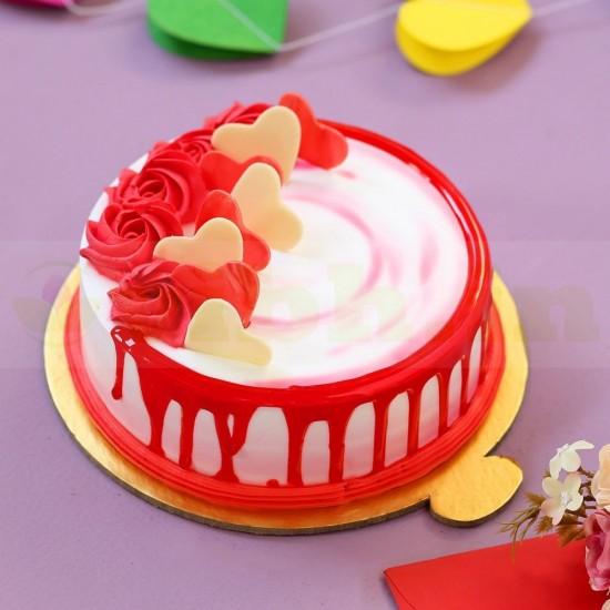 In Love Strawberry Cake From VIBH Cake Studio