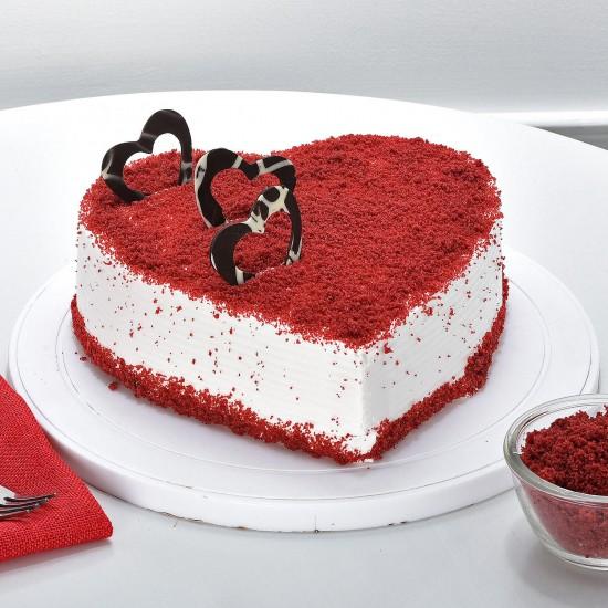 Red Velvet Heart Cake From VIBH Cake Studio
