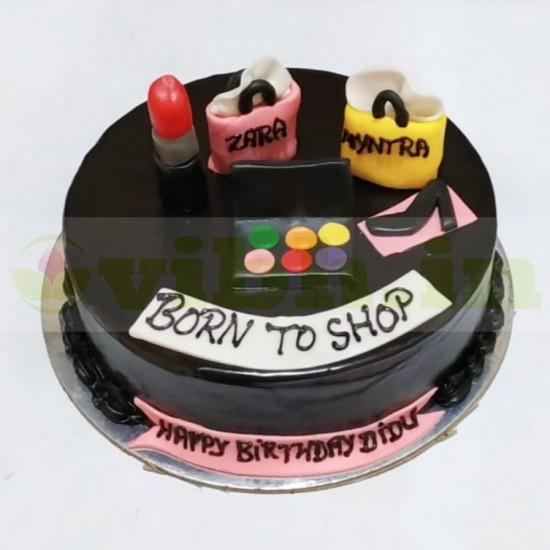 Shopaholic Theme Chocolate Cake From VIBH Cake Studio